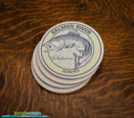 Salmon River Idaho Salmon Fishing sandstone coaster set
