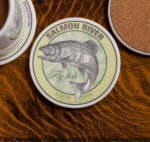 Salmon River New York Fly Fishing sandstone coaster