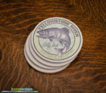 Yellowstone River Fly Fishing sandstone coaster set