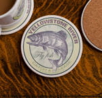 Yellowstone River Fly Fishing sandstone coaster