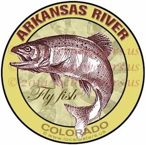 Arkansas River Fly Fishing Colorado Sticker Decal