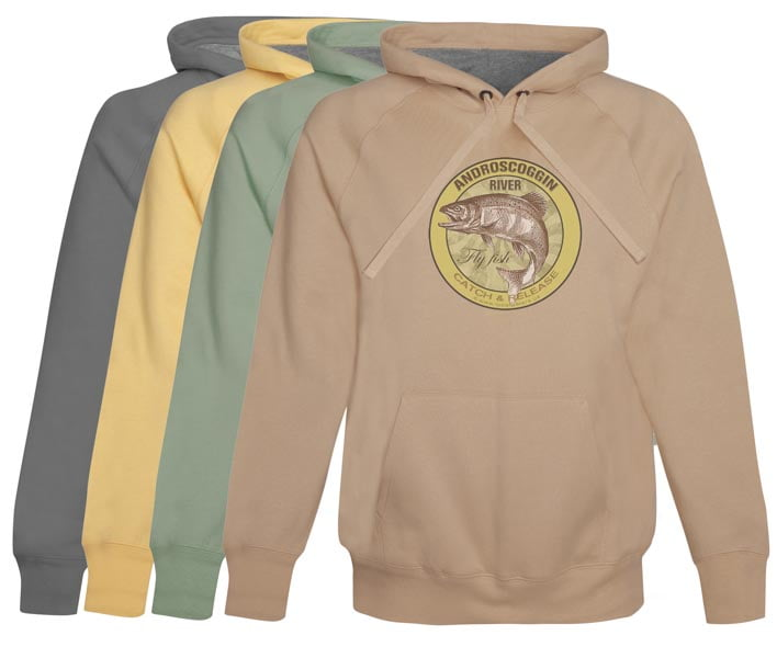 Androscoggin River Fly Fishing Hoodie Fleece