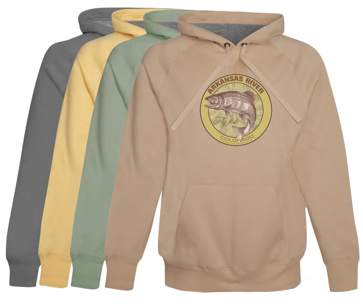 Arkansas River Fly Fishing Hoodie Colorado hoodie fly fishing clothes