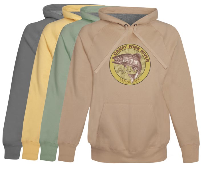 Caney Fork River Fly Fishing hoodie