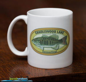 Candlewood Lake Smallmouth Bass Fishing Coffee Mug Connecticut
