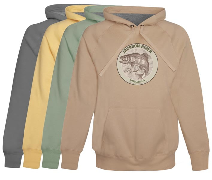 Jackson River Fly Fishing Hoodie Fleece Virginia