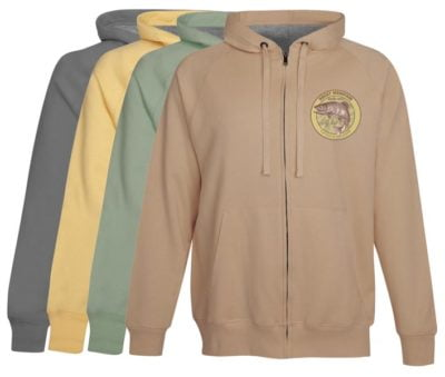 Rocky Mountain National Park Fly Fishing Hoodie Fleece Vintage Khaki Zip Up Anglers Clothing Gifts