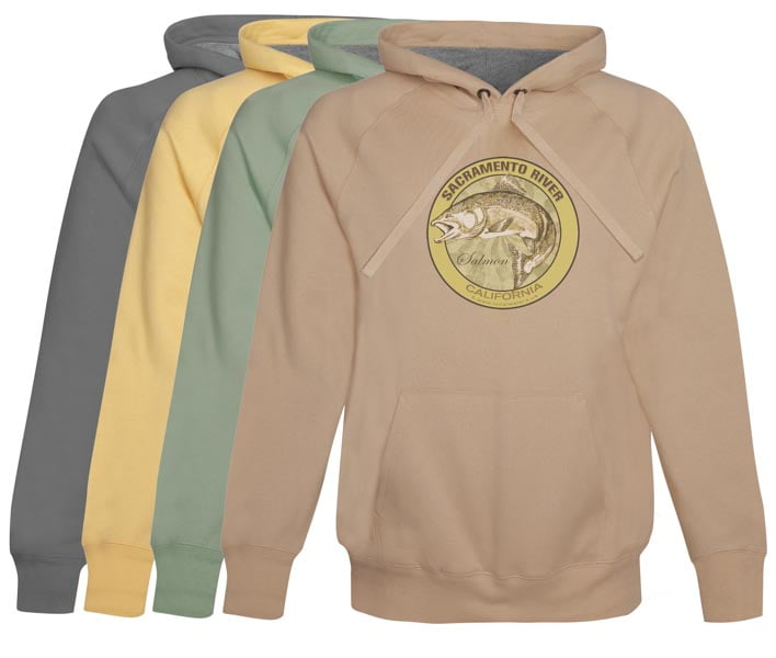 Sacramento River King Salmon Fishing Hoodie Fleece California