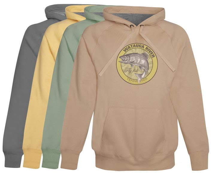 Watauga River Fly Fishing Hoodie Fleece Tennessee