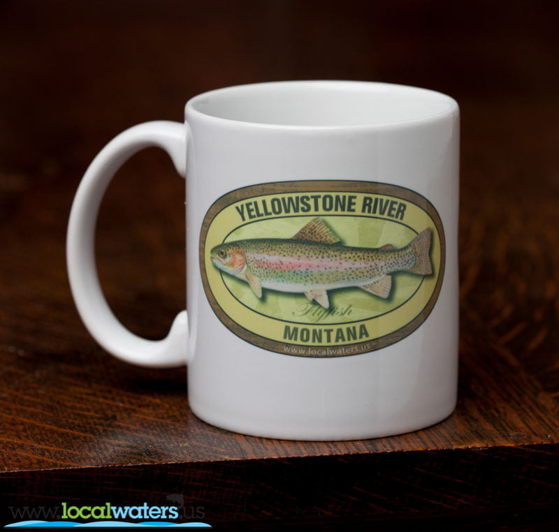 Yellowstone River Coffee Mug Fly Fishing Rainbow Trout Montana