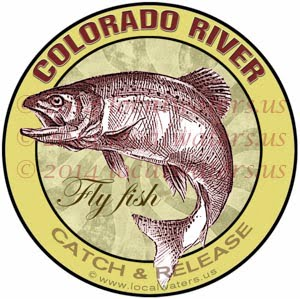 Colorado River Fly Fishing Sticker Decal