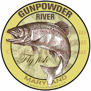 Gunpowder River Fly Fishing Sticker Maryland Trout Washington DC Baltimore Decal