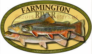 Farmington River Trout Sticker Decal
