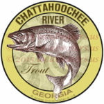 Chattahoochee River Sticker Trout Georgia Decal