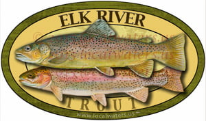 Elk River Sticker Trout Decal