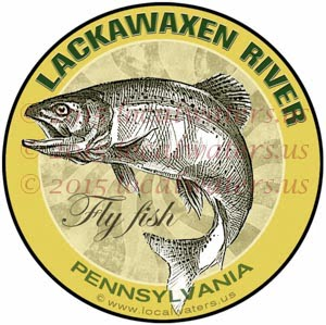 Lackawaxen River Fly Fishing Sticker Pennsylvania Decal