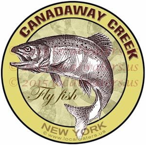 Canadaway Creek Decal Fly Fishing New-York