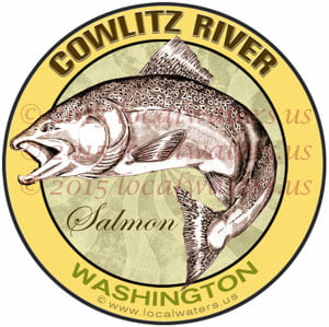 Cowlitz River Decal Washington Salmon Sticker