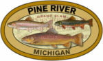 Pine River Michigan Decal Grand slam Trout Sticker
