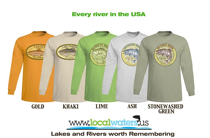 Localwaters Custom Long Sleeve cotton t-shirts