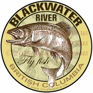 BlackWater River Sticker Fly Fishing Decal British Columbia Canada Trout