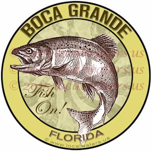 Boca Grande Florida Sticker Fishing Decal Fish On