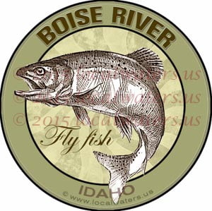 Boise River Sticker Fly Fishing Decal Idaho Trout Fish