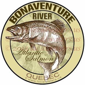 Bonaventure River Sticker Atlantic Salmon Fishing Decal Quebec Canada