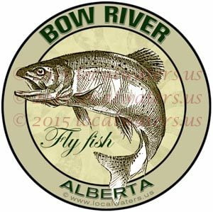 Bow River Sticker Fly Fishing Decal Alberta Canada Trout