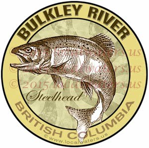 Bulkley River Sticker Steelhead Fishing Decal British Columbia Canada