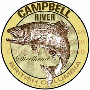 Campbell River Sticker Steelhead Fishing Decal British Columbia Canada