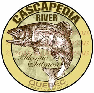 Cascapedia River Sticker Atlantic Salmon Fishing Decal Quebec Canada