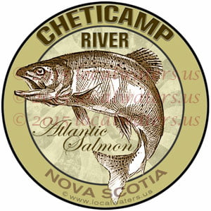 Cheticamp River Sticker Atlantic Salmon Decal Nova Scotia Canada