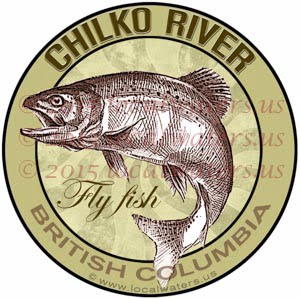 Chilko River Sticker Fly Fishing Decal British Columbia Canada Trout Fishing