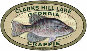 Clarks Hill Lake Sticker Crappie Fishing Decal Georgia