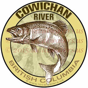 Cowichan River Sticker Fishing Decal British Columbia Canada trout salmon steelhead