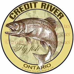 Credit River Sticker Fly Fishing Decal Ontario Canada Trout Steelhead Salmon