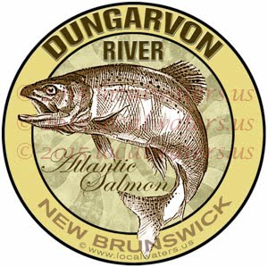 Dungarvon River Sticker Atlantic Salmon Decal New Brunswick Canada