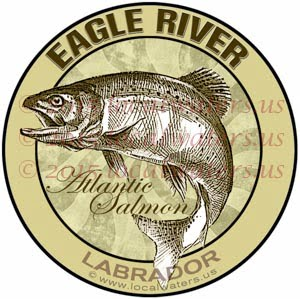 Eagle River Sticker Atlantic Salmon Decal Labrador Canada