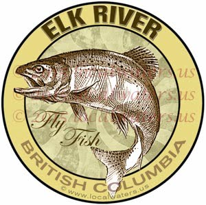 Elk River Sticker Fly Fishing Decal British Columbia Canada