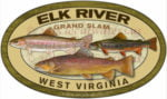Elk River Sticker Grand Slam Trout Decal Fishing West Virginia