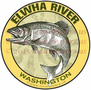 Elwha River Sticker Fishing Decal Washington Steelhead Salmon Trout Fishing