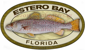Estero Bay Fishing Sticker Spotted Sea Trout Speckled Trout Florida