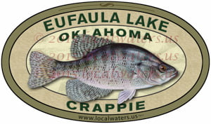 Eufaula Lake Sticker Crappie Fishing Decal Oklahoma