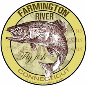 Farmington River Sticker Fly Fishing Decal Connecticut Trout Fish