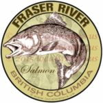 Fraser River Sticker King Salmon Decal British Columbia Canada Chinook Fishing