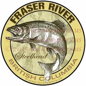 Fraser River Sticker Steelhead Fishing Decal British Columbia Canada