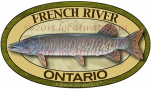 French River Sticker Muskellunge Fishing Decal Muskie Ontario Canada