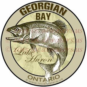 Georgian Bay Sticker Ontario Fishing Decal Canada trout salmon walleye lakers fish
