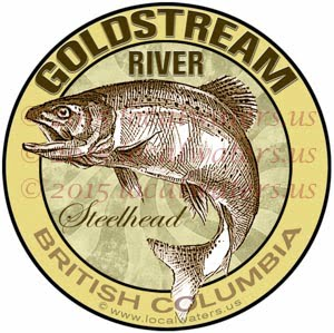 Goldstream River Sticker Steelhead Decal British Columbia Canada Fly Fishing Trout